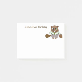 Executive Thoughts from a Professional Beaver Post-it Notes