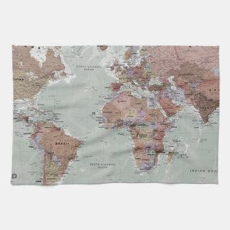 Executive World Map Tea Towel