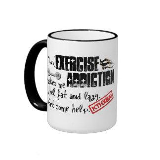 Exercise Addiction Intervention Ringer Mug