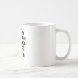 Exercise..BACON Basic White Mug