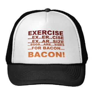 Exercise bacon trucker hat
