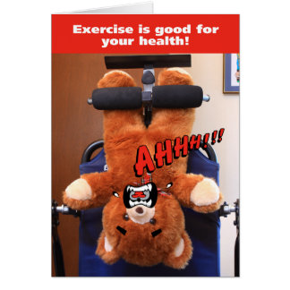 Exercise Bear Hates Exercise Card