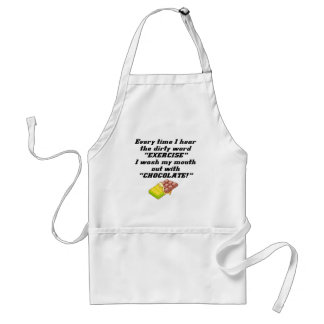 Exercise Dirty Word Funny T-shirts Gifts Aprons