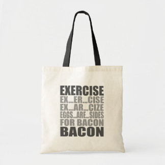 Exercise eggs are sides bacon budget tote bag