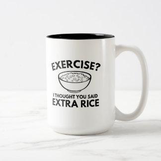 Exercise ? Extra Rice Two-Tone Coffee Mug