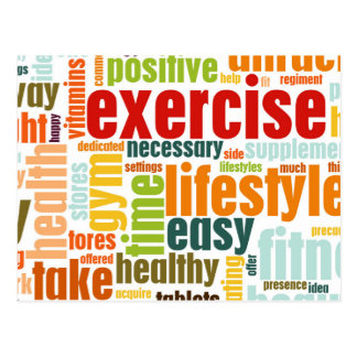 Exercise Fitness Lifestyle Postcard