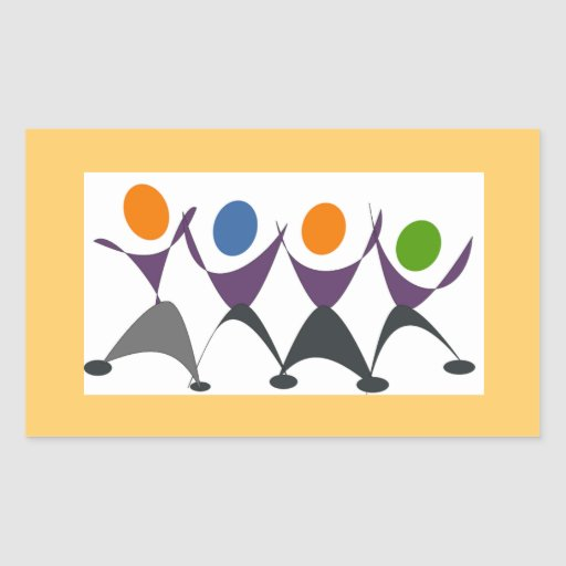 Exercise for Fun Rectangular Stickers