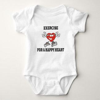 exercise heart2 baby bodysuit
