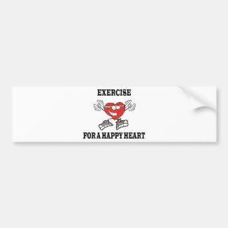 exercise heart2 bumper sticker