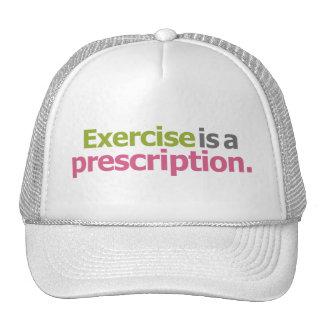 Exercise Is A Prescription - Light Background Cap