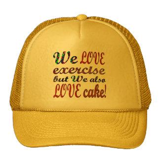 Exercise, Love, Hearts, Cake Cap