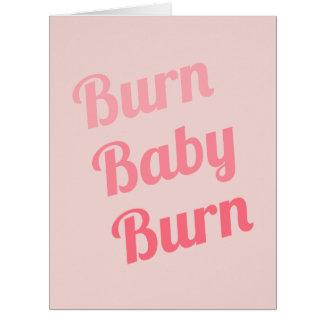 Exercise Motivation Burn Baby Pink Big Greeting Card