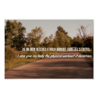 Exercise Motivational Quotes--Physical Workout Poster