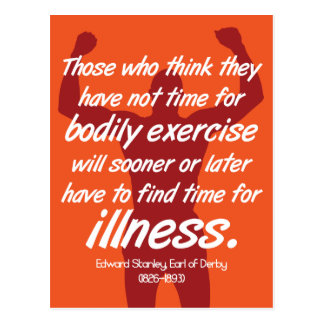 Exercise or illness - Fitness Motivation Quote Postcard