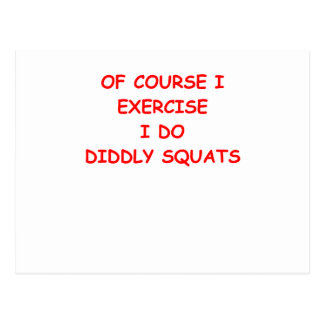 exercise postcard