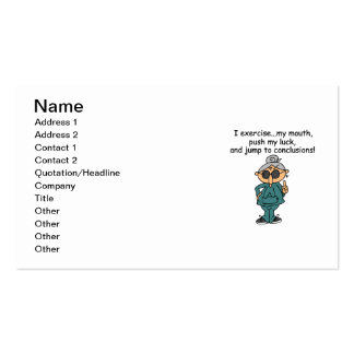 Exercise, Push, Jump Humor Pack Of Standard Business Cards