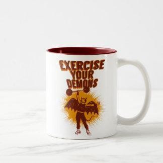 Exercise Your Demons Two-Tone Coffee Mug