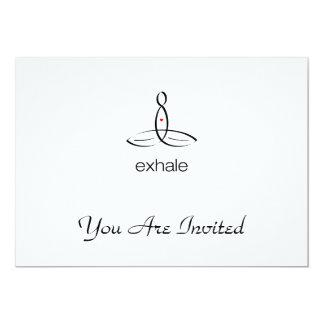 Exhale - Black Regular style 13 Cm X 18 Cm Invitation Card