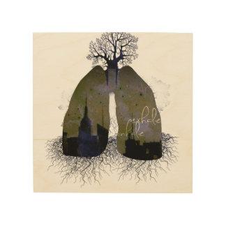 Exhale Inhale Wood Print