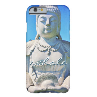 """Exhale"" Quote Peaceful Hawaii White Buddha Photo Barely There iPhone 6 Case"