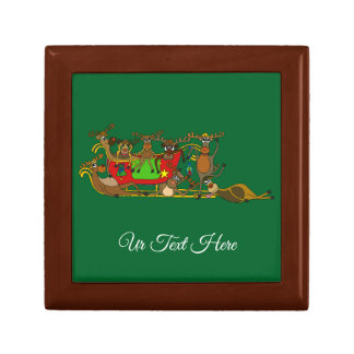 Exhausted Reindeers by Palm Tale Gift Box