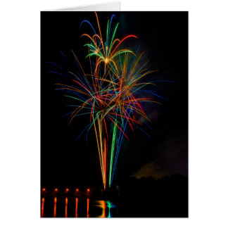 Exhibition of colors in fireworks card