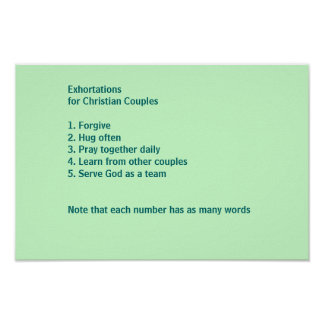 Exhortations for Christian Couples Poster