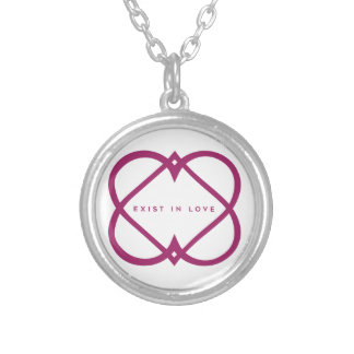 Exist In Love Silver Plated Necklace