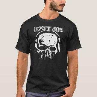 Exit 406 White Skull T-Shirt