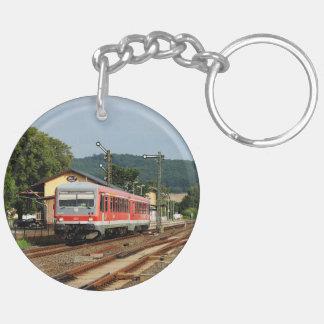 Exit from Glauburg Stockheim Key Ring