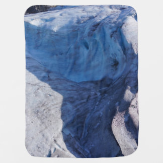 Exit Glacier Waves Baby Blanket