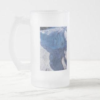 Exit Glacier Waves Frosted Glass Beer Mug