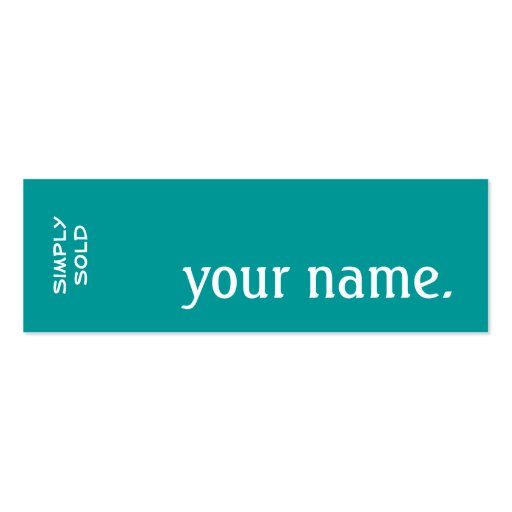 Exit Realty Simply Sold. Skinny Business Card