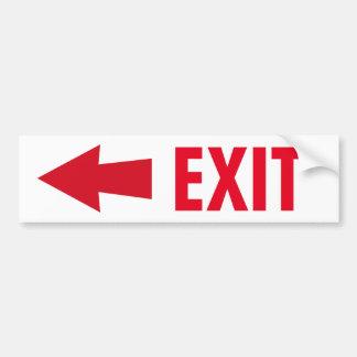 Exit Sign Car Bumper Sticker