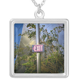 Exit Sign Custom Necklace