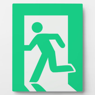 Exit Sign Plaque
