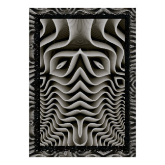 EXO-Skeleton 3D Optical Illusion Poster