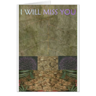 EXOBIA GREETINGS: I WILL MISS YOU CARD