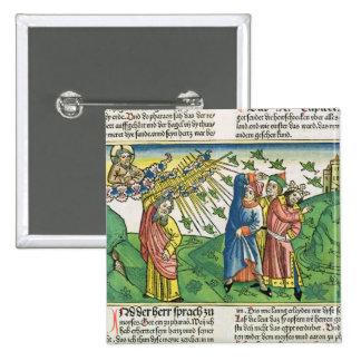 Exodus 10:1-20 The Seven Plagues of Egypt: the pla 15 Cm Square Badge