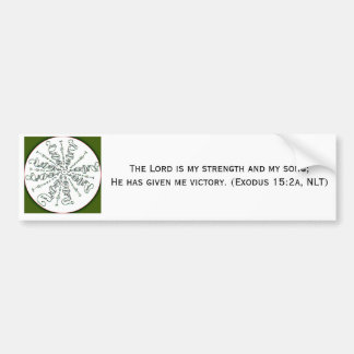 Exodus 15:2 Mandala Bumper Sticker