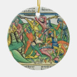 Exodus 17 8-15 Aaron and Hur support Moses' hands Round Ceramic Decoration