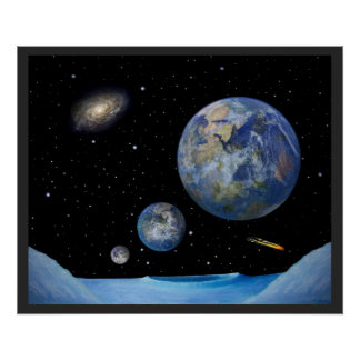 Exoplanet Earths Poster