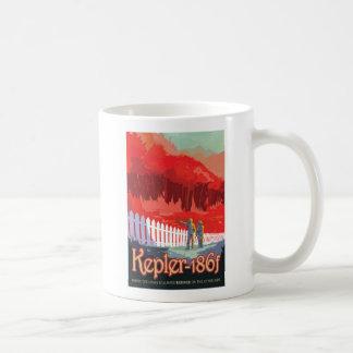 Exoplanet Kepler 186f Retro Travel Illustration Coffee Mug