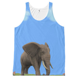 Exotic African Elephant. All-Over Print Tank Top