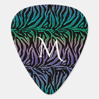 Exotic Animal Print Monogram Guitar Pick