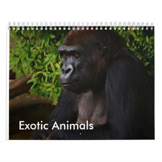 Exotic Animals calendar