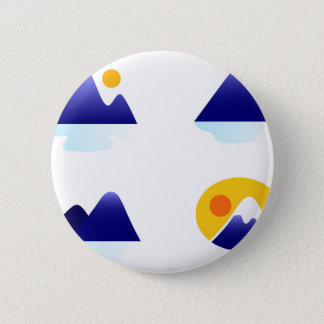 Exotic asia Mountains blue 6 Cm Round Badge