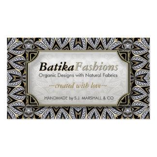 Exotic Batika Fashion Modern Tribal Business Cards