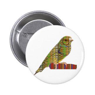 Exotic BIRD: Pet Zoo KIDS  lowprice GIFTS NAVIN JO 6 Cm Round Badge