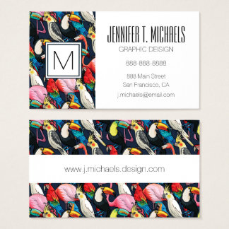 Exotic birds business card